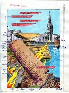 Justice Machine #24 Page #5 1988 Original Color Guide