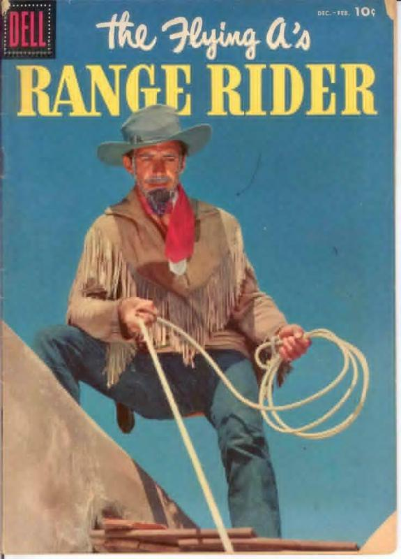 FLYING AS RANGE RIDER (1952-1959 DELL) 16 G-VG PHOTOCOV COMICS BOOK