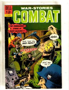 War Stories Combat # 19 FN Dell Silver Age Comic Book 1966 Army Navy Nazis JL15