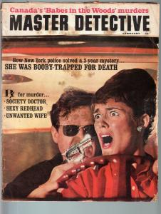 MASTER DETECTIVE FEB 1965-G-UNWANTED WIFE-BABE MENACED WITH PISTOL-TRUE CRIME G