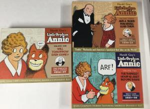 Harld Gray Little Orphan Annie Hardcover Volume 1 2 3 1924-1931 Dailies B18 Nm