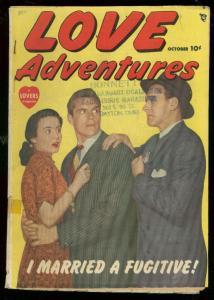 LOVE ADVENTURES #1 1949-PHOTO CVR-CRIME-ROMANCE-MYSTERY VG