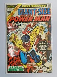 Giant Size Power Man #1 water stain 5.0 (1975)
