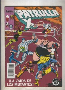 La Patrulla X volumen 1 numero 075: La caida de los mutantes