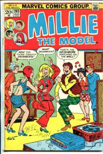Millie The Model #203 1973-dance cover-fashion pages-FN