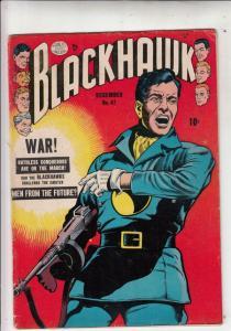 Blackhawk #47 (Dec-51) FN- Mid-Grade Black Hawk, Chop Chop, Olaf, Pierre,Chuc...