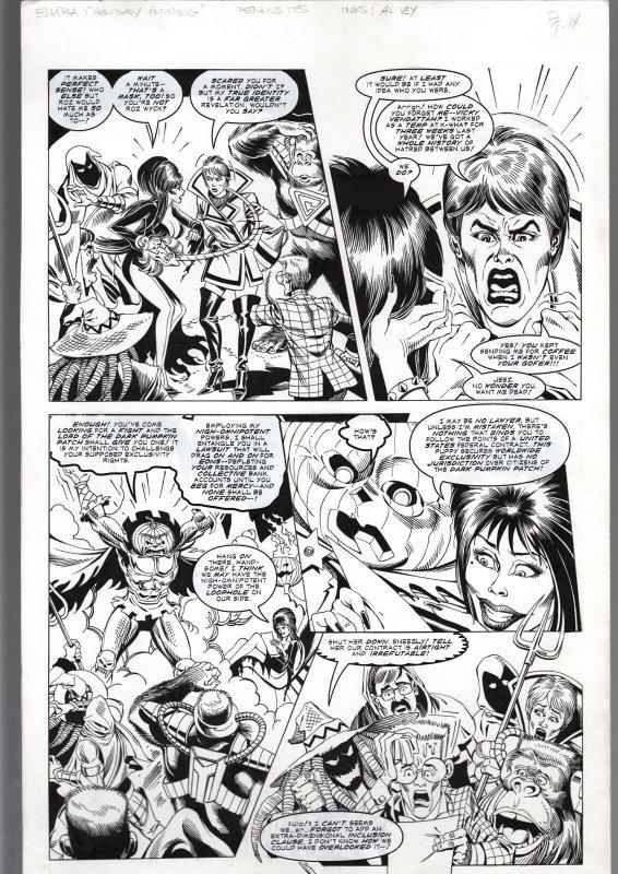 TOD SMITH-ELVIRA #152-HOLIDAY HUMBUG-ORIGINAL ART PAGE 14--QUEEN 'B' PROD FN