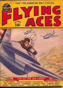 Flying Aces 10/1940-August Schomburg-Nazi Attack-Al McWilliams-hero pulp-VG