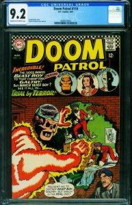 DOOM PATROL #110 CGC 9.2 1967 DC Comic Book 2039573025