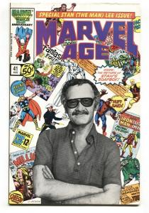 Marvel Age #41 1986-Stan Lee photo cover-comic book VF+