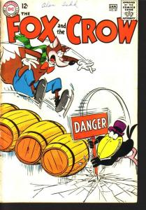 FOX AND CROW #89 CRAZY ICE SKATING COVER  DC  1965 VG