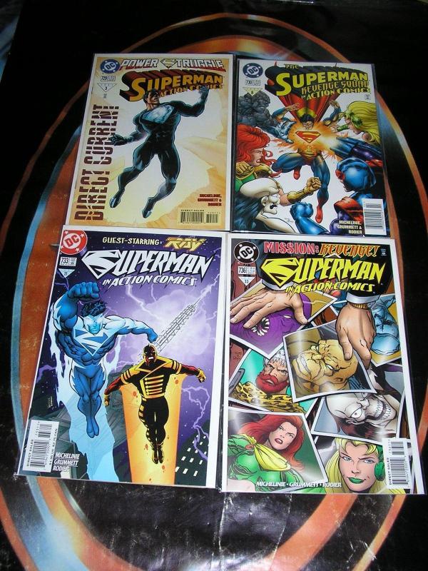 SUPERMAN IN ACTION COMICS (DC Comics), 1984-1998, 45 diff, 0, 553-743, Ann 1, 7