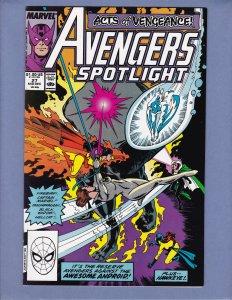 Avengers Spotlight #27 NM- Marvel 1989