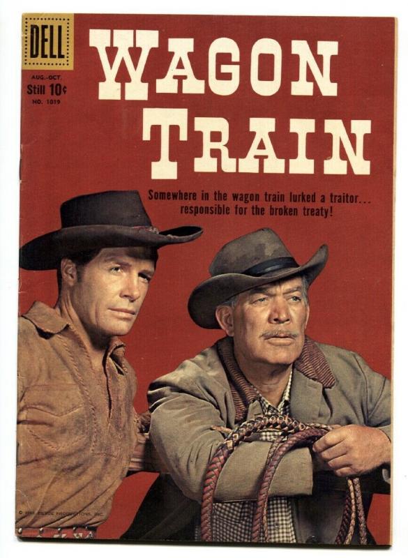 -Four Color Comics #1019 Wagon Train 1959-Dell- Ward Bond-Robert Horton-VF