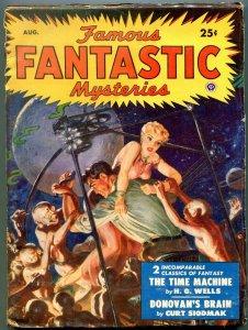 Famous Fantastic Mysteries Pulp August 1950- Donovan's Brain- Time Machine
