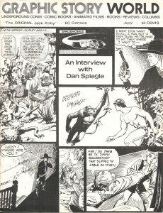 GRAPHIC STORY WORLD #6-1972-DAN SPIEGLE-JACK KIRBY-SHEL DORF-EC COMICS-FANZINE