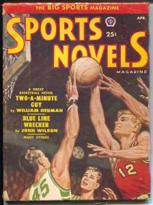 Sports Novels 4/1951-Popular-baseball-boxing-basketball-Norman Saunders-VG