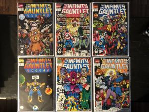 The Infinity Gauntlet #1-6 Complete, NM Range