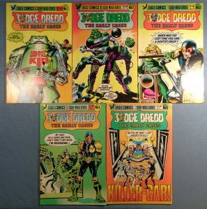 Judge Dredd The Early Cases Lot #1 #2 #3 #5 #6 Eagle Comics 1986