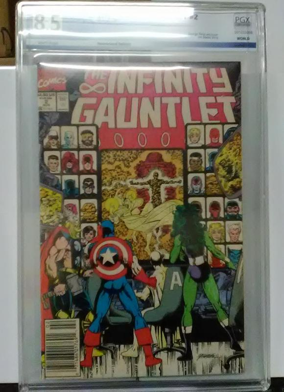 THE INFINITY GAUNTLET #2 GRADED PGX 8.5 VF+ FRESH CLEAN SLAB!