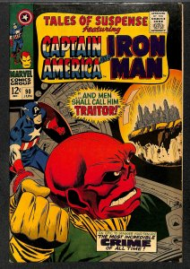 Tales Of Suspense #90 VG/FN 5.0 Iron Man Captain America Red Skull! Iron Man