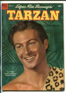 TARZAN #52 -1954-DELL-BURROUGHS-MARSH-LEX BARKER PHOTO COVER-fn