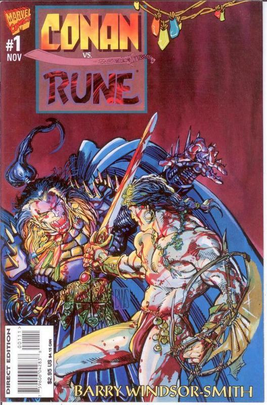 CONAN VS RUNE  1 VF-NM (11/95; $2.95 CVR) BWSmith COMICS BOOK