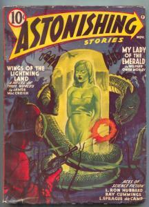 Astonishing Stories Pulp November 1941- L Ron Hubbard- Ray Cummings