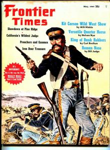 Frontier Times-5/1964-Indian fight cover-Kit Carson-Chief Roman Nose-Starr-VG