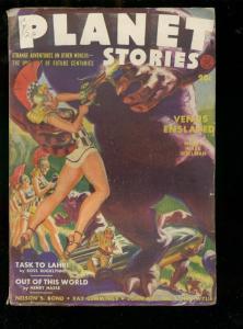 PLANET STORIES-SUM 1942-NORMAN SAUNDERS-FRANK PAUL-PULP FN-