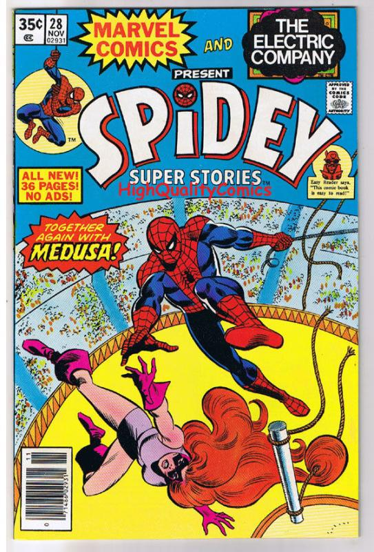 SPIDEY SUPER STORIES 28, VF+/NM, Medussa, Spider-man, 1974, more in store