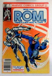 Rom #21 Marvel 1981 NM- Bronze Age Comic Book 1st Print