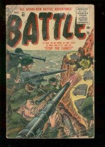 BATTLE COMICS #54 1957-ATLAS-CIVIL WAR-KOREA-GENE COLAN G/VG