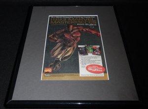 1993 Fleer Marvel Masterpieces Framed 11x14 ORIGINAL Advertisement Iron Man