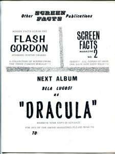 Screen Facts Album #2 1960's-1931 Frankenstein-Boris Karloff-full page photos-FN