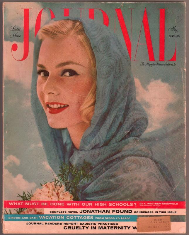 Ladies Home Journal 5/1958-John D MacDonald pulp fiction-fashion-pix-VG