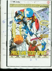 NFL SUPER PRO #11-MARVEL-COLOR GUIDES PROD. ART