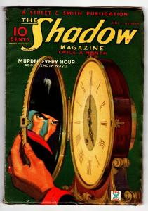 SHADOW 1935 June 1 -MURDER EVERY HOUR- STREET AND SMITH-RARE PULP FN