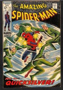 Amazing Spider-Man #71 FN+ 6.5 Quicksilver!
