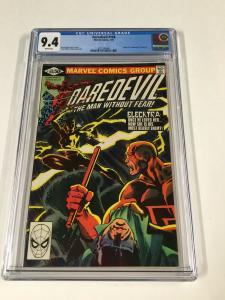 Daredevil 168 Cgc 9.4 White Pages Marvel 1st Elektra
