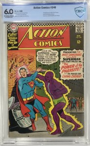 Action Comics #340 CBCS 6.0 1st appearance of the Parasite.