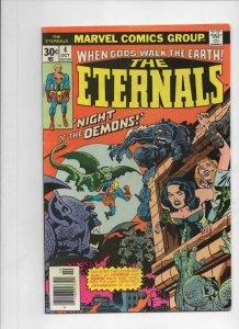 ETERNALS #4, FN, Jack Kirby, Marvel, Night of the Demons, 1976
