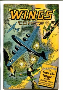 WINGS #64 1945-FICTION HOUSE-LEE ELIAS-CAPT WINGS-AIR BATTLE-WWII-vg