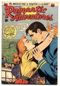 Romantic Adventures #35 1953  First interracial romance in comics! comic book