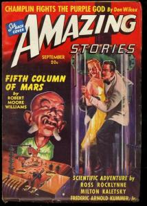 AMAZING STORIES 1940 SEP-COOL SCI FI PULP FN