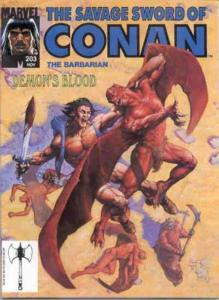 SAVAGE SWORD OF CONAN 203 VFNM