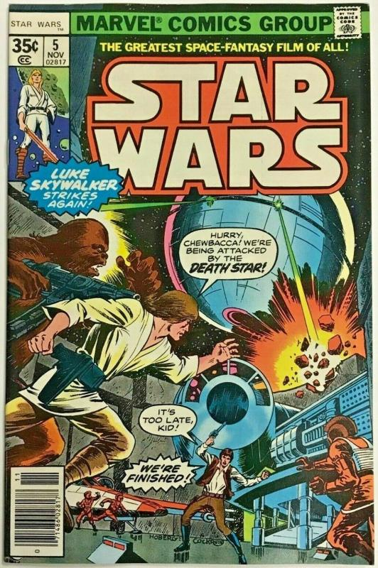 STAR WARS#5 VF 1977 MARVEL BRONZE AGE COMICS