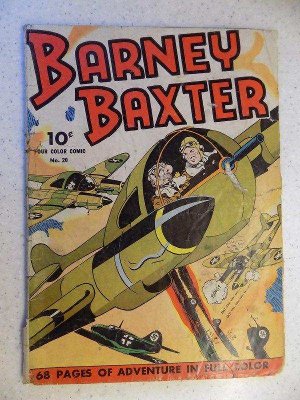 BARNEY BAXTER # 20 FOUR COLOR NAZI WAR COVER PRE WW2 SCARCE