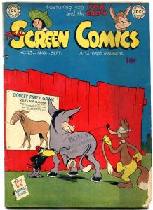 REAL SCREEN COMICS #25 1949-DC-FOX & CROW--PIN THE TAIL VG