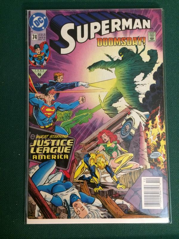 Superman #74 DOOMSDAY!